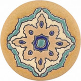 green brown ceramic pull knob