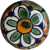 green white ceramic pull knob