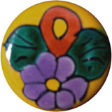 green yellow ceramic pull knob