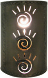 designer tin wall lamp