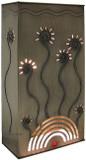 rustic tin wall lamp