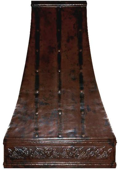 tall copper range hood