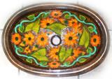 oval rustic copper bathroom sink