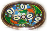 oval mexican copper bathroom sink