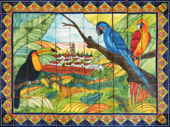 Artisan Produced Mexican Tile Mural