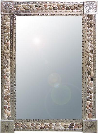 River Stone Tin Mirror