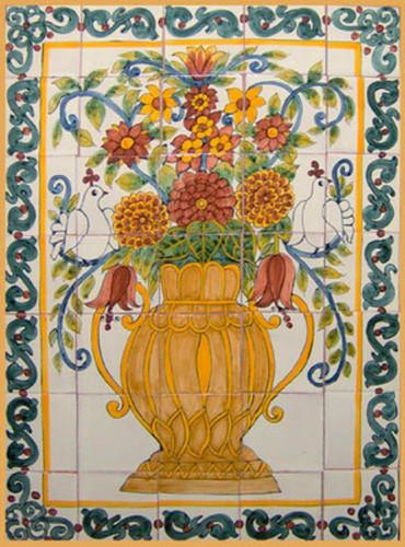 Handmade Southern Tile Mural