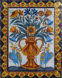 Dolores hidalgo kitchen backsplash tile mural