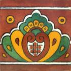 hand painted tile mural rustic border