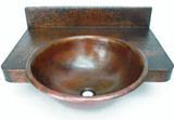 copper bathroom sink with counter