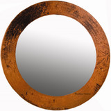 produced round copper mirror