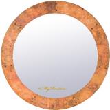 manufactured round copper mirror