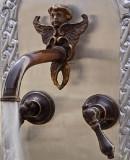 conventional bar kitchen wall bronze faucet