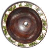Mexican round copper bath sink
