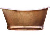 copper bathtub hand hammered