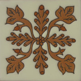 old world relief tile brown