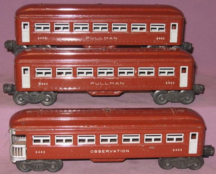 passenger cars 6442 6442 6443 tinplate lionel trains library rh postwarlionel com Lionel 0 Scale Tenders Lionel Coal Tender with Sound