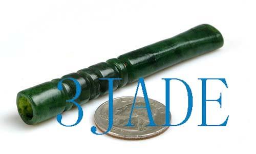 green nephrite jade cigarette holder