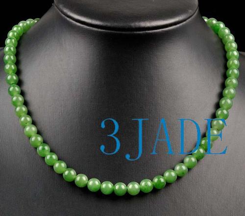 green nephrite jade necklace