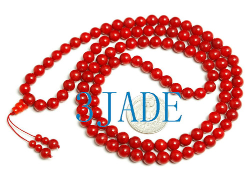 red coral prayer beads