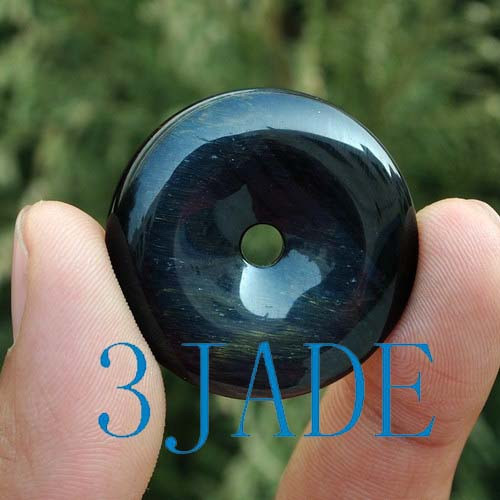 blue tiger's eye donut bead