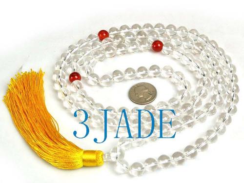 "45"" Crystal Quartz Prayer Beads"