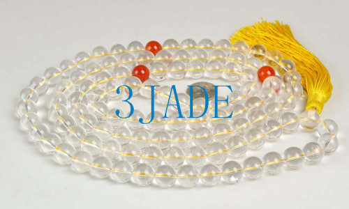 "64"" Crystal Quartz Prayer Beads"