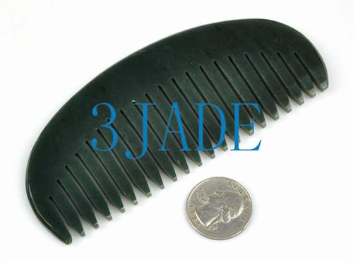 natural black jade comb