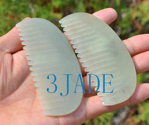 Hetian jade comb