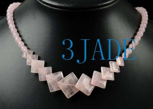 Rose Quartz Gemstone Necklace
