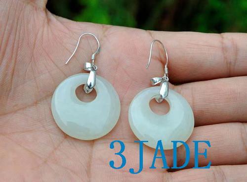 white nephrite jade earrings