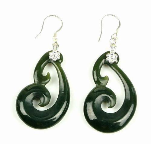 Maori jade earrings