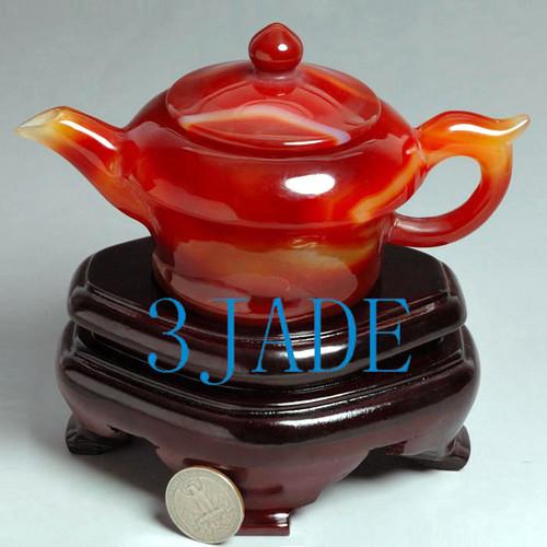 Carnelian Tea Pot