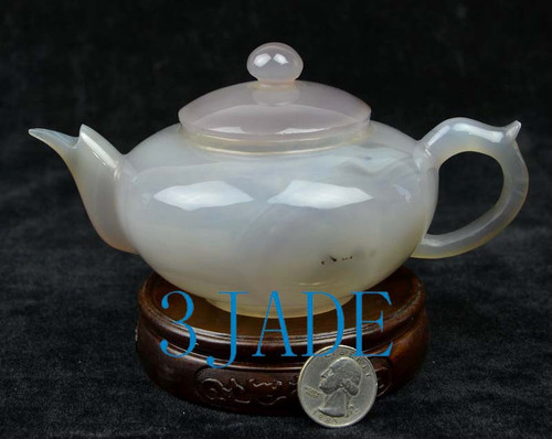 natural agate teapot