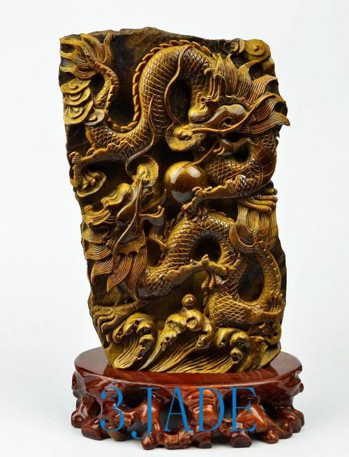 tiger's eye dragon statue