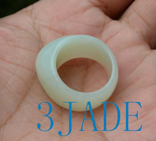 white jade saddle ring