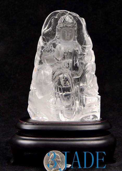 crystal Kwan yin statue