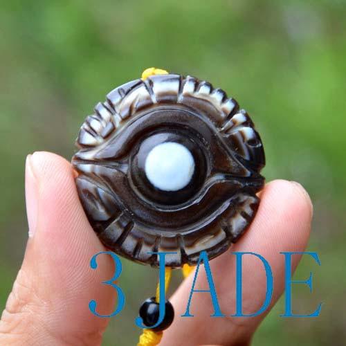 DZI stone pendant