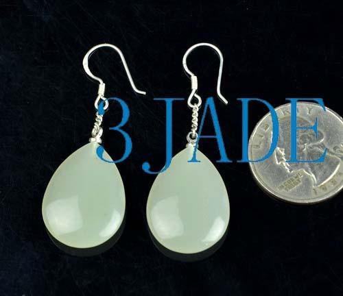 jade water drop earrings