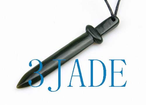 jade sword pendant