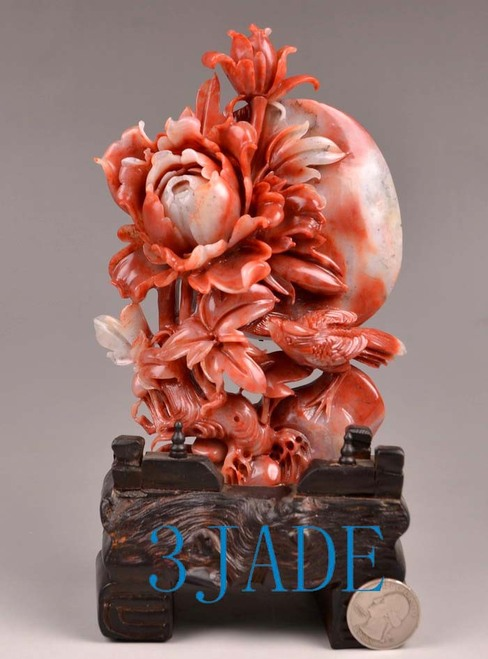 bird flower carving