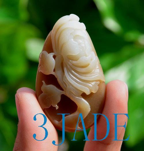 Nephrite Jade Flower