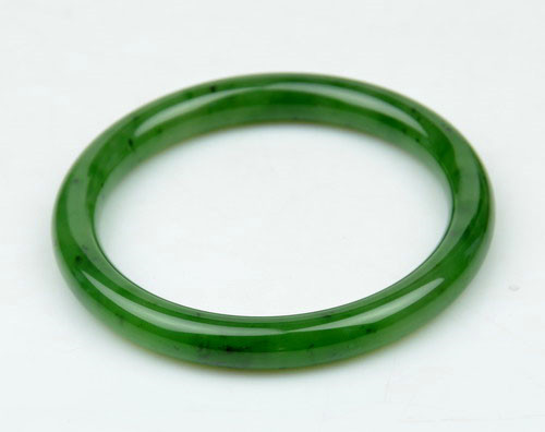 55mm green nephrite jade bangle
