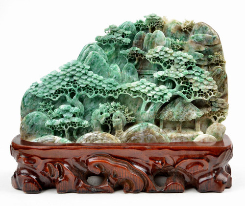 Jade Traditional Chinese Mount Scenery