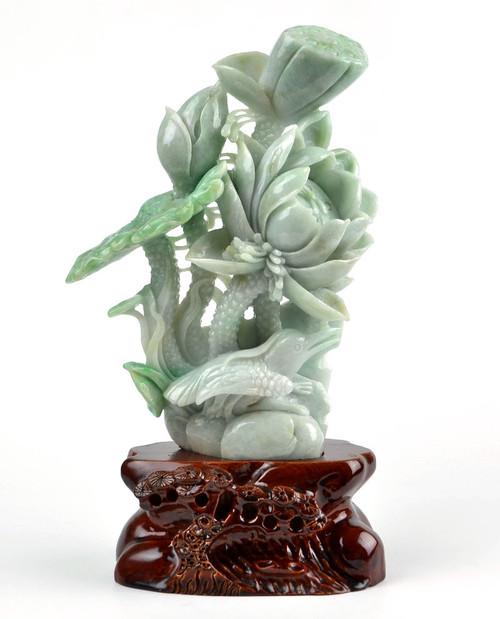 jadeite lotus bird
