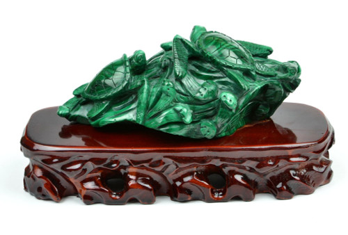 malachite turtle statue