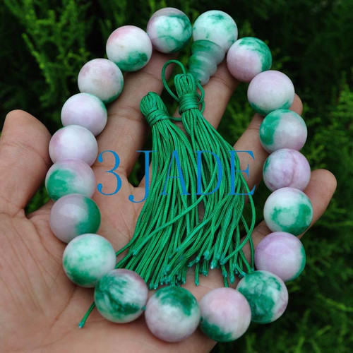 Colorful Jade Prayer Beads