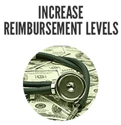 Increase reimbursement Levels