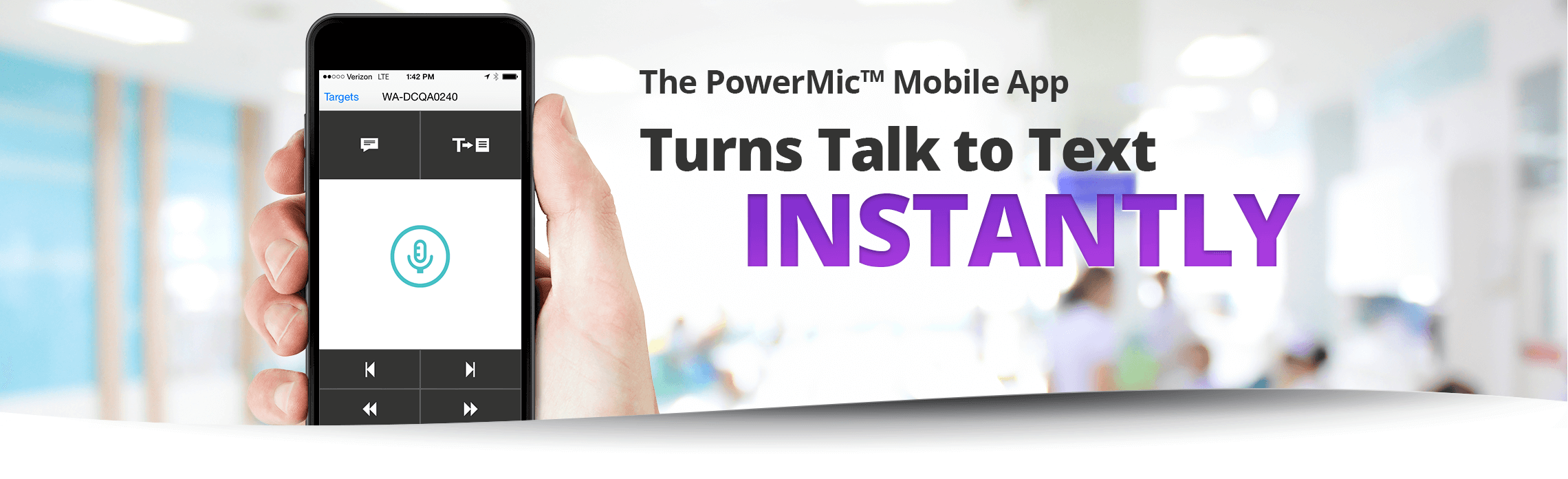 The PowerMic Mobile App - Turns talk to text instantly