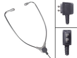 ECS AL-60DP 2 Prong Aluminum Stetho Style Transcription Headset for use with Dictaphone - New AL60DP